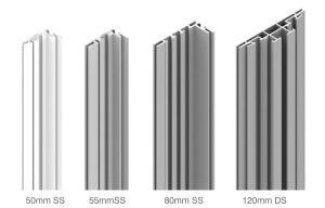 Extrusion sizes